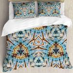Kaleidoscope Blue And Yellow  Bedding Set Bedroom Decor
