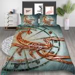 Golden Scorpion Printed Bedding Set Bedroom Decor 01