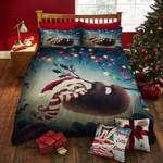 Christmas Sloth With Santa Hat CT Bedding Set BEVRUH