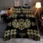 Egyptian Scarab Beetle Golden KD2342 Bedding Set BEVR3007
