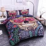 Flower Skull Paisley Pattern Printed Bedding Set Bedroom Decor
