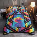 Galaxy Color Flower Printed Bedding Set Bedroom Decor