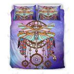 Dragonfly Purple Dreamcatcher Printed Bedding Set Bedroom Decor 01