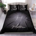 BlackBasketball  Custom Duvet Cover Bedding Set withYour Name #0705h