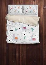 Cute Llama Pattern Printed Bedding Set Bedroom Decor 01