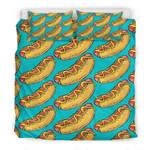 Hot Dog Pattern 3D Bedding Set Bedroom Decor