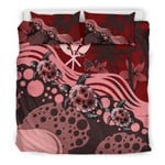 Polynesian Hawaii Red Turtle Hibiscus A Bedding Set CAMLIUX
