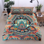Hamsa Hand Hippie Printed Bedding Set Bedroom Decor