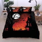 Halloween Cat Witch Bedding Set All Over Prints