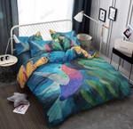 Humming Bird Queen Printed Bedding Set Bedroom Decor