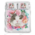 Cute Flower Cat Bedding Set Bedroom Decor