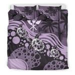 Polynesian Hawaii Purple Turtle Hibiscus A Bedding Set CAMLISC