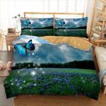 Beautiful  Scenic Flower Printed Bedding Set Bedroom Decor