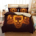 Fire Of Death Angry Skeleton Print  Bedding Set Bedroom Decor 01