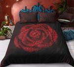 Skull Rose Black And Red Gothic Duvet Cover Bedding Set #H
