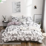 Frigg Printed Marble Bedding Set White Black Duvet Cover King Queen Size Quilt Cover Brief Bedclothes Comforter Cover 3PCS 2PCS