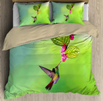 Beautiful Hummingbird Bedding Custom Name Duvet Cover Bedding Set #L