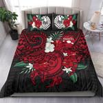 Polynesian Tahiti Duvet Cover Hibiscus Andsea Turtle (Red) Bn Bedding Set CAMLIFG