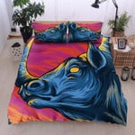 Colorful Art Buffalo Printed Bedding Set Bedroom Decor