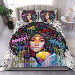 African -American Dream Custom Name Duvet Cover Bedding Set #106H