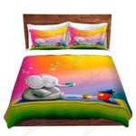 Cute Lonely  Elephant Bedding Set Bedroom Decor