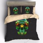 Green Skull Bedding Set Bedroom Decor 01