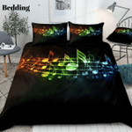 Colorful Music Notes CD Bedding Set INKPRE