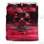 Red Skull Bullet Printed Bedding Set Bedroom Decor 01