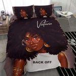 Black Girl Glasses Back Off Custom Name Duvet Cover Bedding Set #207H