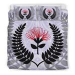 New Zealand Maori Silver Fern And Pohutukawa CT Bedding Set BEVRWS