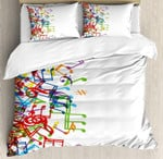 Colorful Music White BB Bedding Set INKPHQ