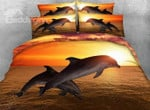 Leaping Dolphin At Sunset Gs Cl Dt1710 Bedding Set QA4016 FRWE1508