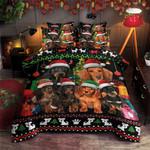 Dachshunds Christmas Bedding Set TGJJB