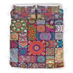 Square Bohemian Mandala Patchwork Printed Bedding Set Bedroom Decor