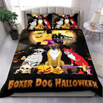 Boxer Dogs Halloween Bed Sheets Spread Comforter Duvet Cover Bedding Sets