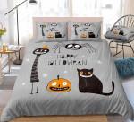 Cartoon Halloween Cotton Bed Sheets Spread Comforter Duvet Cover Bedding Sets
