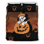 Dalmatian Pumpkins Halloween Bed Sheets Spread Comforter Duvet Cover Bedding Sets