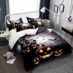 Cartoon Pumpkin Halloween Night Bed Sheets Duvet Cover Bedding Set Great Gifts For Birthday Christmas Thanksgiving