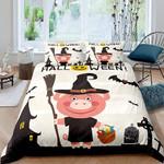 Pig And Halloween Bed Sheet Duvet Cover Bedding Sets