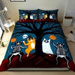 3D Cat Disguising On Halloween Day Cotton Bed Sheets Spread Comforter Duvet Cover Bedding Sets