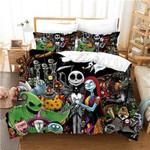 Halloween Cartoon Skull Nightmare Before Christmas Bedding Set (Duvet Cover & Pillow Cases)