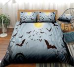Bats Halloween Cotton Bed Sheets Spread Comforter Duvet Cover Bedding Sets