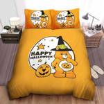 Care Bear Trick-Or-Sweet Bear Happy Halloween Bed Sheets Spread Comforter Duvet Cover Bedding Sets