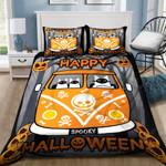Cat Halloween Bed Sheets Spread Duvet Cover Bedding Set