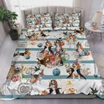 Beagle Halloween Pumpkin Bed Sheets Spread Comforter Duvet Cover Bedding Sets