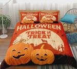 Pumpkin Trick Or Treat Halloween Bedding Set (Duvet Cover & Pillow Cases)