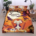 Cat Halloween Party Bed Sheets Duvet Cover Bedding Set Great Gifts For Birthday Christmas Thanksgiving