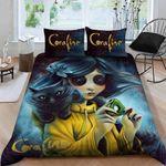 Coraline Bedding Set Sleepy Halloween And Christmas (Duvet Cover & Pillow Cases)