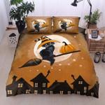 Halloween Cat 03 Bedding Set  (Duvet Cover & Pillow Cases)