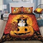 Rottweiler Halloween Theme Trick Or Treat Cotton Bed Sheets Spread Comforter Duvet Cover Bedding Sets